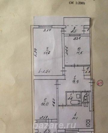Продаю 3-комн квартиру 80 кв м, Севастополь