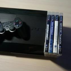 PS 3 Slim 500ГБ 4 игры