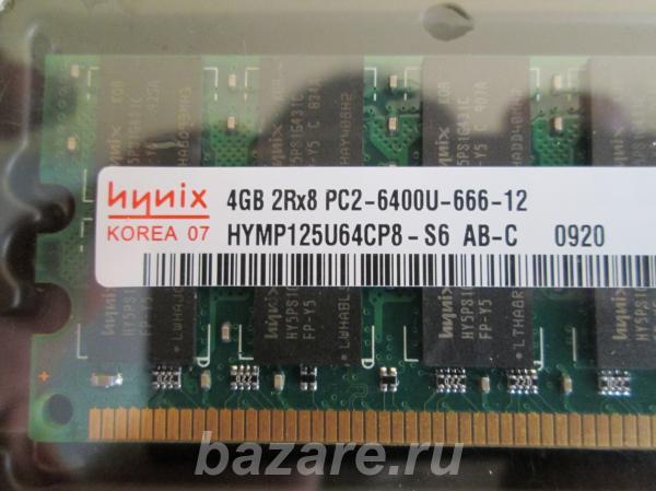 DDR-2 Hynix 4 Гб РС2-6400 800 МГц для плат с процессором AMD,  Кемерово
