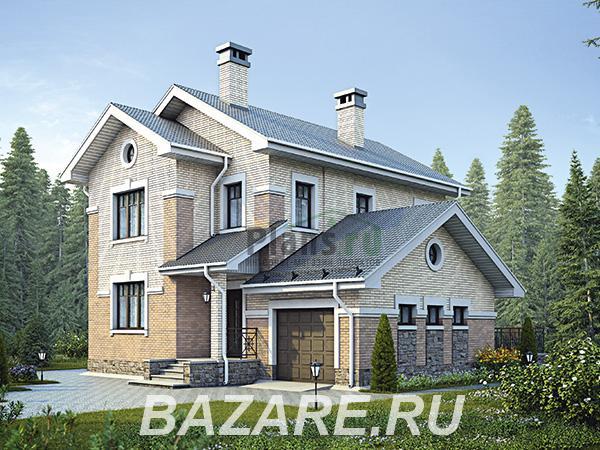 Проект каркасного дома с гаражом под ключ. Площадь 136 м2, Москва