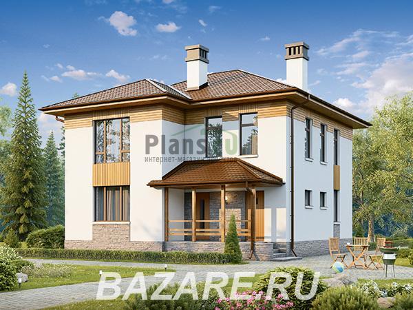 Проект двухэтажного, каркасного дома площадью 150 кв. м., Москва