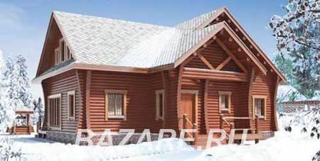 Двухэтажный дом из бревна с верандой и террасой. Площадь ..., Москва