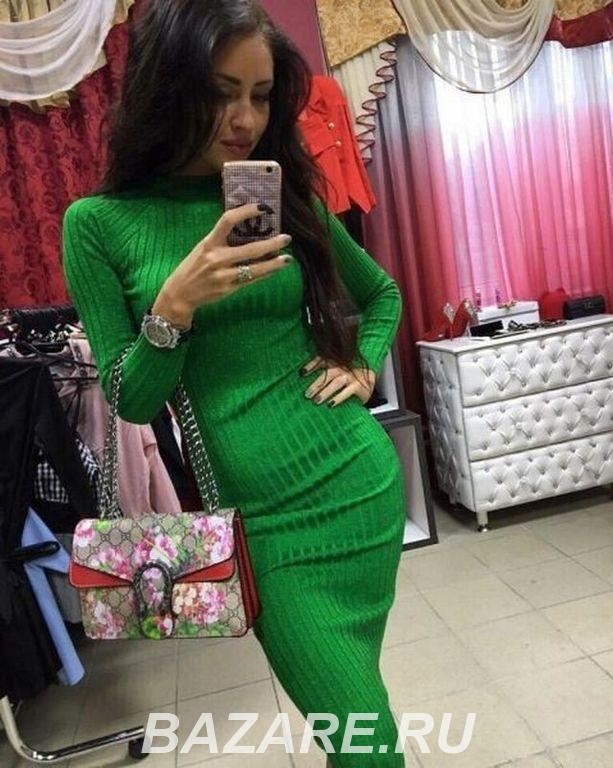 Вязаное теплое платье Лапша, Москва
