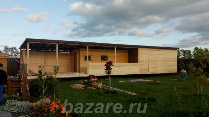 Готовые каркасные дома и бани в современном стиле,  Тюмень