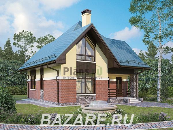 Проект каркасного дома 8,4x8,4 с мансардой, Москва