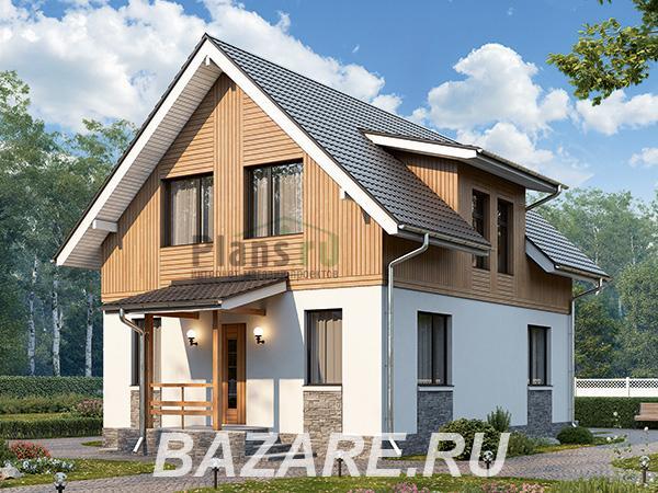 Проект каркасного дома около 100 кв. м., Москва