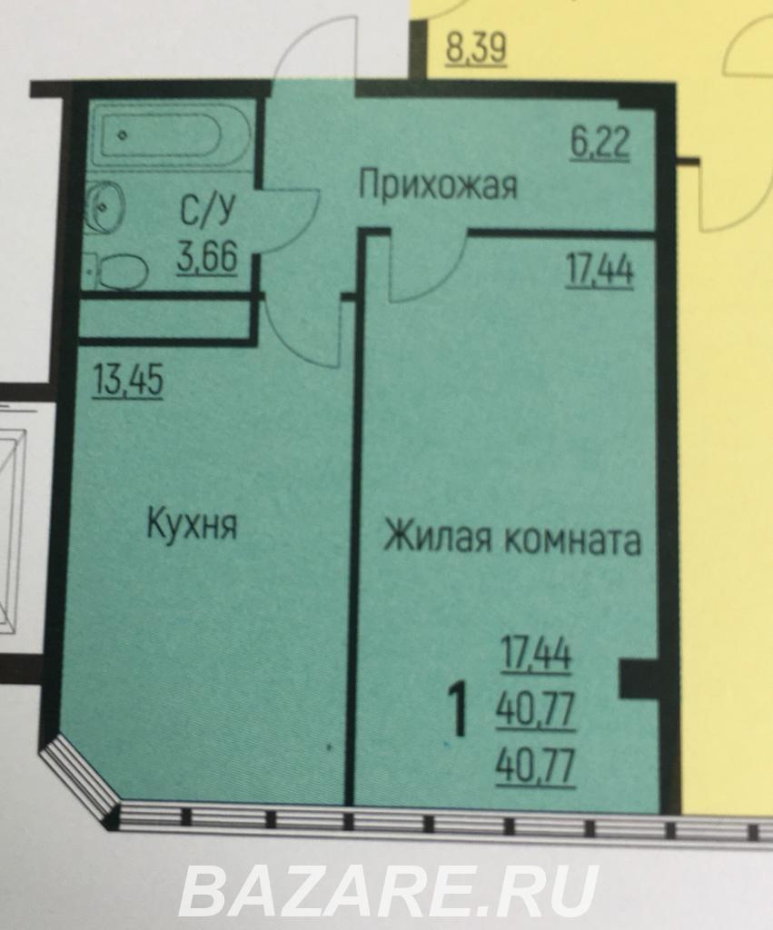 Продаю 1-комн квартиру, 41 кв м, Туапсе